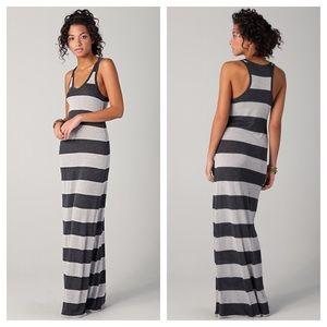 Soft Joie Deidra Gray Striped Racerback Dress NEW